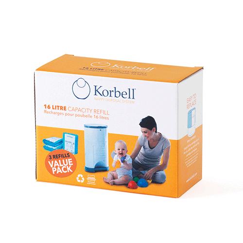 Korbell Standard Blöjhink Refill 3-pack